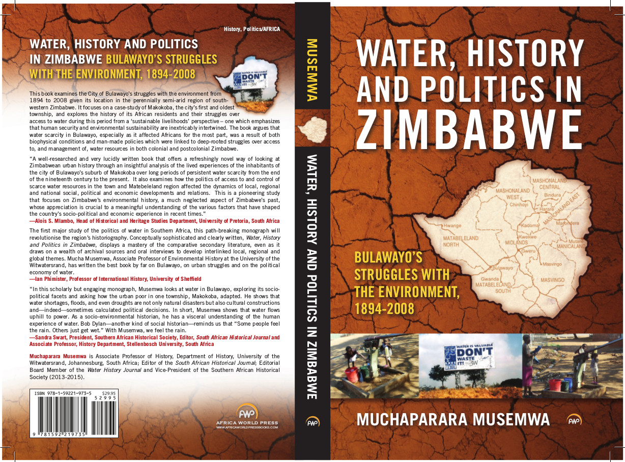 book cover for Water, History and Politics in Zimbabwe